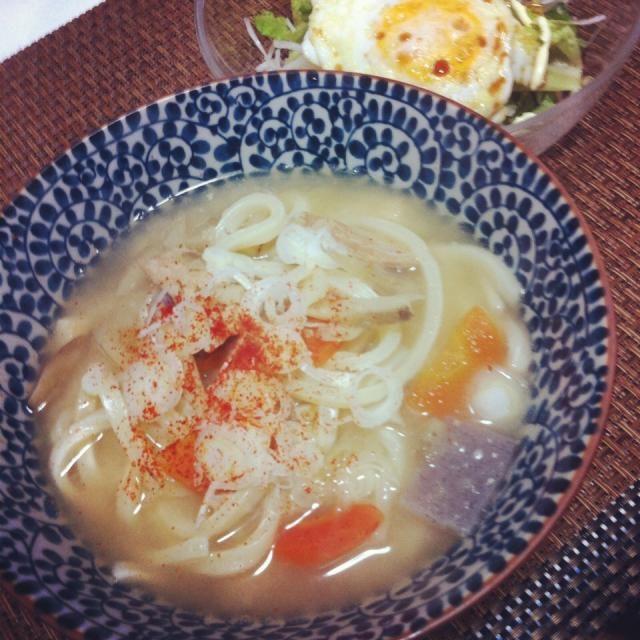 豚汁ーーー(ु*´З`)ू❣ - 7件のもぐもぐ - 豚汁うどん by saayuone