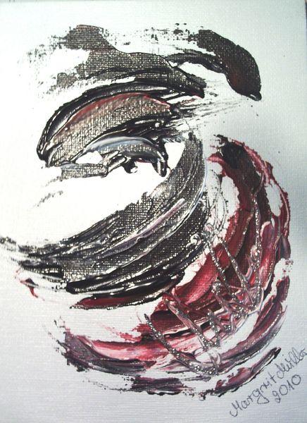 Acrylmalerei - ORIGINAL Acrylbild SILBERZEICHEN - ein Designerstück von mARgriTs-Atelier bei DaWanda