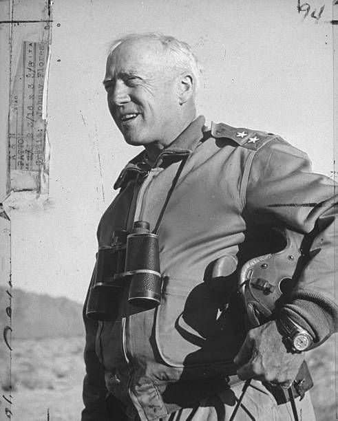 Gen George S Patton Jr Observing Troops During Desert Training