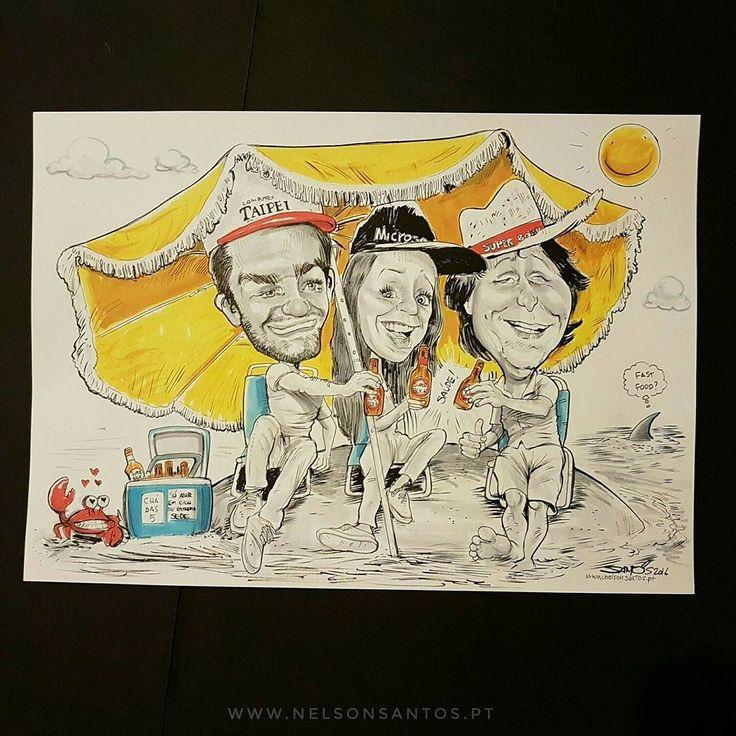 Um brinde à #amizade #superbock #minis #minisuperock #cerveja #beer #summer #verão #sol #caricaturas #friends #frienship #alegria #family #party #amigos www.nelsonsantos.pt