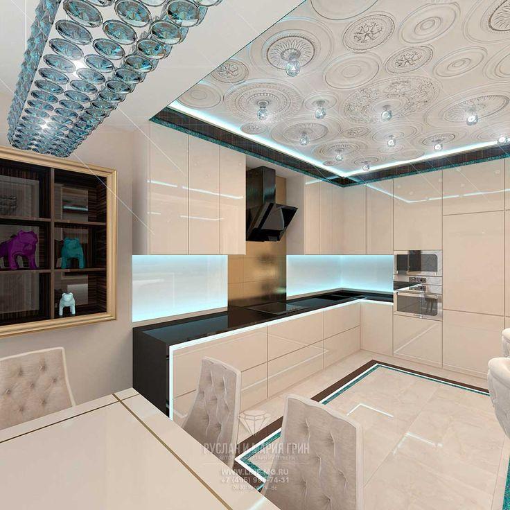 Дизайн интерьера гостиной с кухней http://www.line-mg.ru/dizayn-kvartiry-zhk-dolina-setun