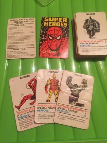 Marvel super #heroes 1977 #vintage #spider-man hulk avengers card game top trumps,  View more on the LINK: http://www.zeppy.io/product/gb/2/302127205749/