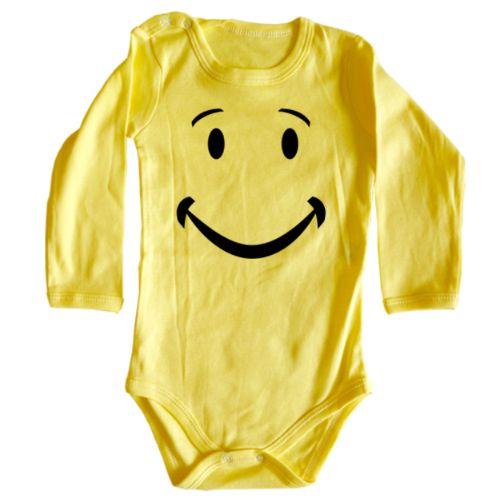 Body bebe Smiley    Ce este mai placut decat un bebelus care zambeste? Unul care poarta un body bebe cu un Smiley desenat.