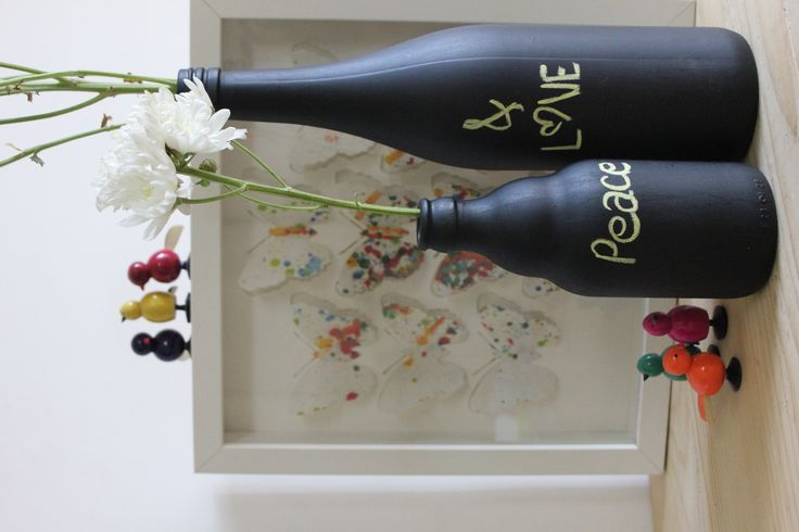 Chalkboard Bottle DIY kit - great as a personalised gift - fish in water