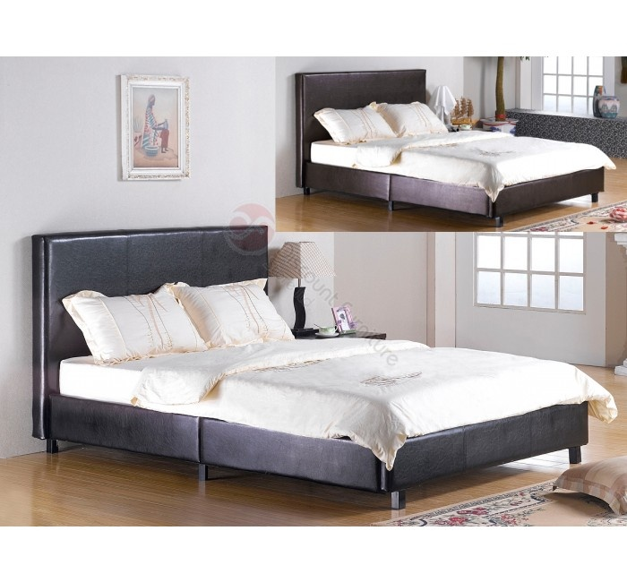 Fusion PU 3ft Single bed Leather bed frame, Bed, Furniture