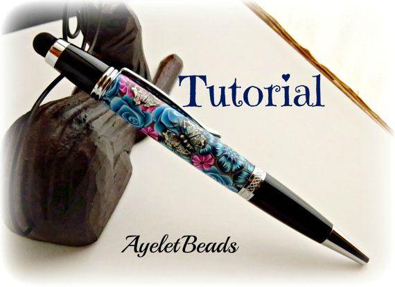 POLYMER CLAY MILLEFIORI PEN maken TUTOIAL, door Ayeletbeads www.facebook.com/ayeletbeads In deze wandelstokken deze stap-voor-stap tutorial zal ik laten zien hoe ik mijn pen blanks met polymeerklei tegenover (een techniek genaamd - Millefiori). Ik zal niet laten zien hoe maak je een stok (u vindt een Millefiori Cane tutorial in mijn Etsy-winkel). Ik zal niet laten zien hier hoe de pen kit te monteren, zoals het varieert van een pen naar de andere. U kunt deze techniek toepassen op…