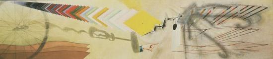 Tu m'. Óleo sobre tela, com escova de garrafa, três alfinetes de segurança, e um parafuso, 1918