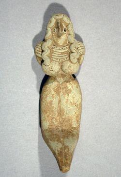 Seated Mother Goddess | Period: Indus civilization, Mehrgarh style | Date: 3000–2500 B.C. Culture: Pakistan (Baluchistan)