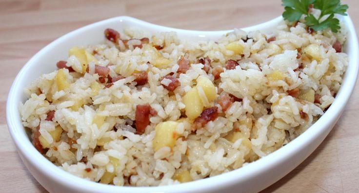 Almás-baconös rizs recept | APRÓSÉF.HU - receptek képekkel