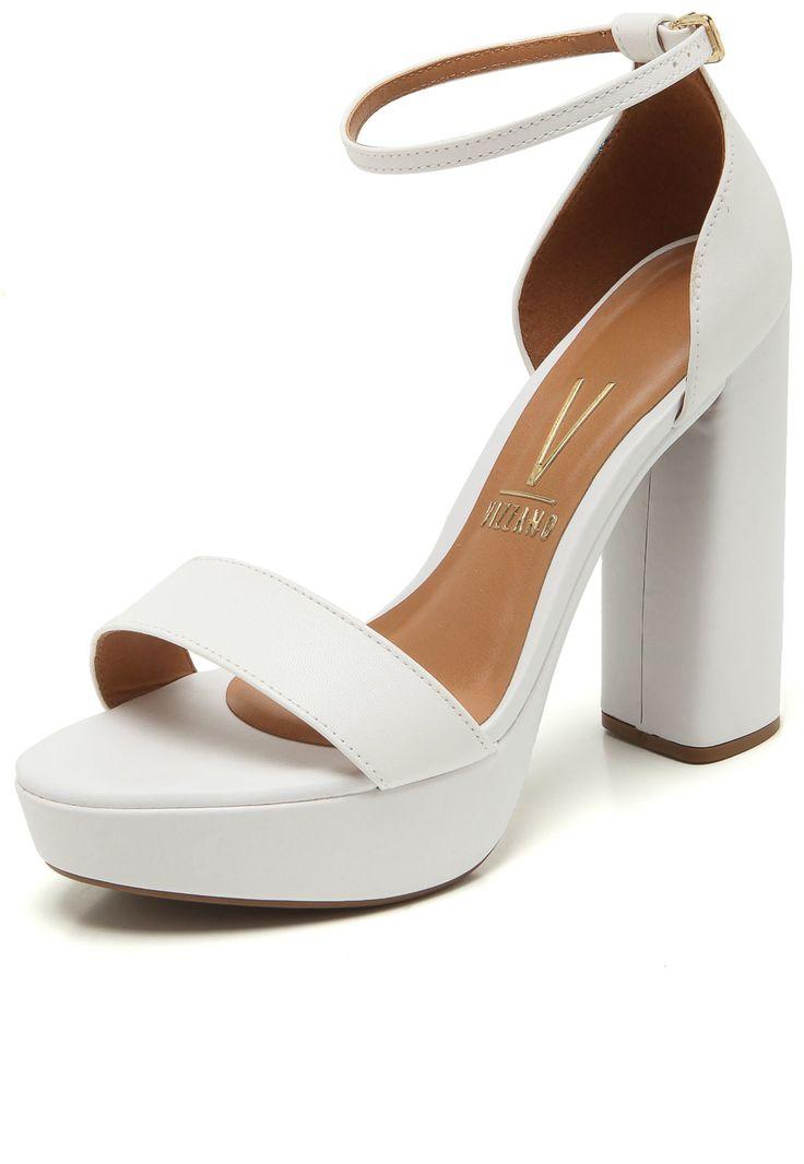 Sandália Salto Grosso Numeração Especial Sapato Show