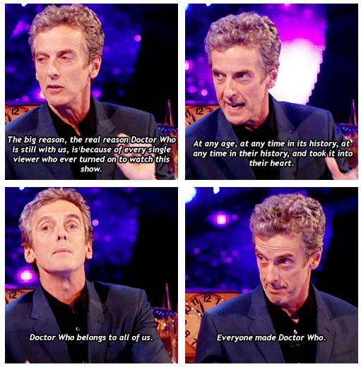 Peter Capaldi speaks truth!
