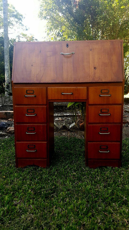 Vintage 9 drawer dropdown desk