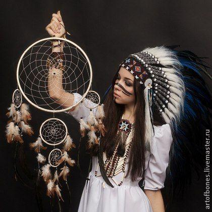 ЛОВЕЦ СНОВ (диаметр 27-32 см) - белый,черный,синий,красный,желтый,ловец снов