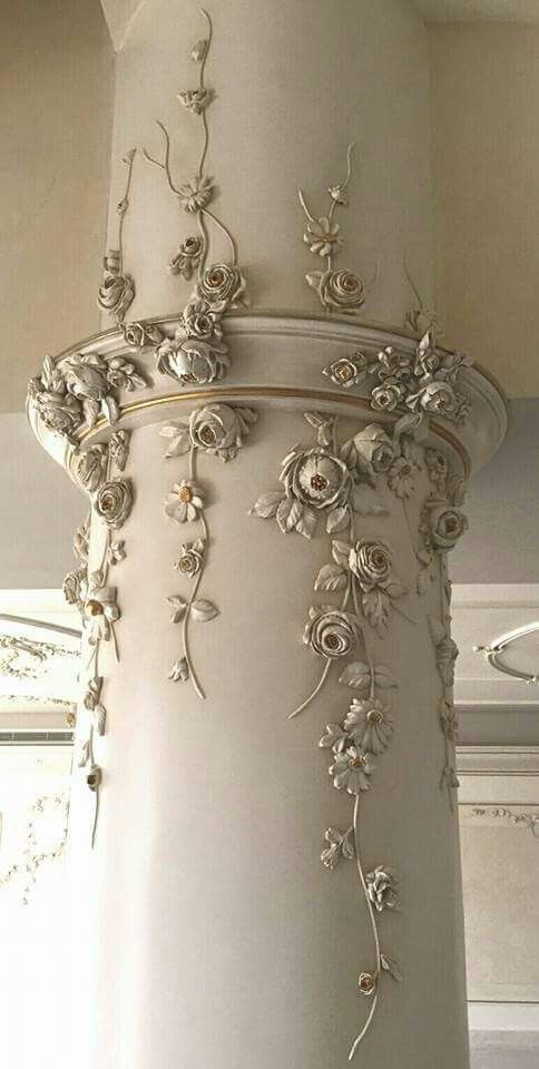 The most romantic Shabby chic column I've ever seen.