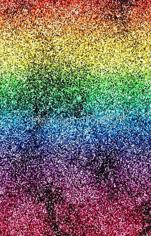 Glitter Rainbow Paint Splatter iPhone Case & Cover in