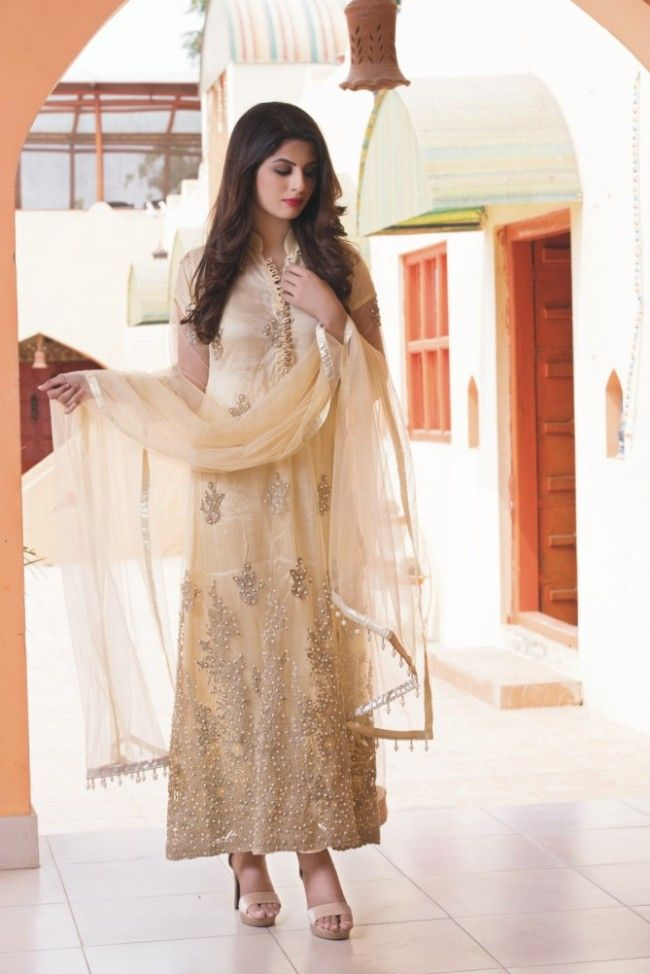 Sha Posh Skin Embroidered Ready to Wear Net 3pcs Suit With Net Dupatta - Latest…