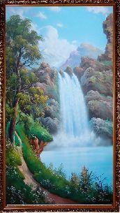 Крутой водопад - Водопады <- Картины маслом <- Интерьер <- VIP - Каталог | Универсальный интернет-магазин подарков и сувениров