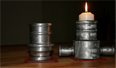 Candle holders from old fire hoses