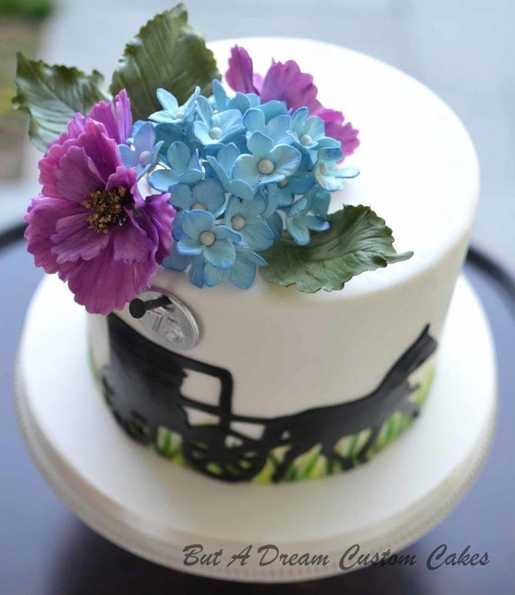 Sugar Flowers on Amish Cake - http://cakesdecor.com/cakes/279005-sugar-flowers-on-amish-cake