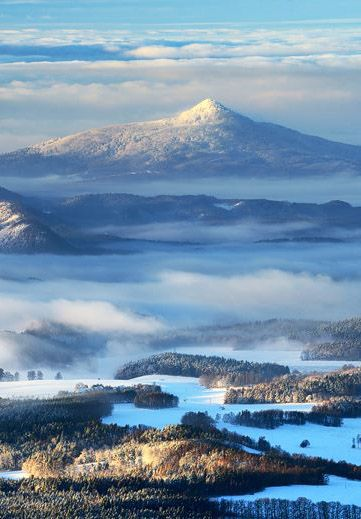 Ještěd in winter, Jizerské mountains, Czechia #landscape #nature #Czechia #VisitCzechia