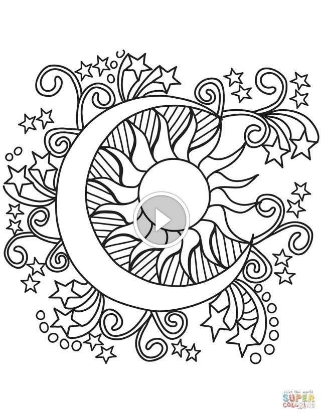 Flower Coloring Pages For Adults Printable See Our Collection Of Flower Coloring Pages For Adults Pr Star Coloring Pages Moon Coloring Pages Sun Coloring Pages