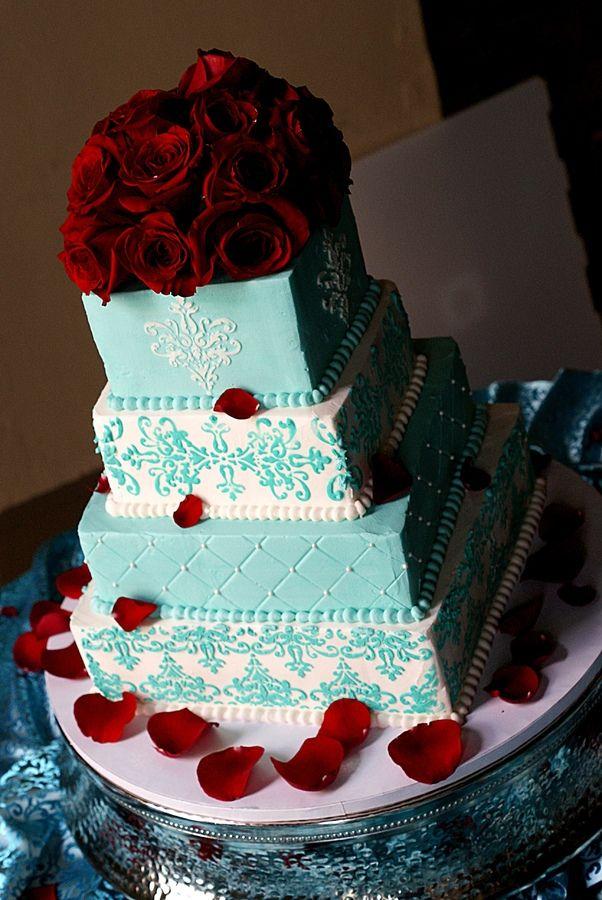 Square wedding cake u2014 Square Wedding Cakes