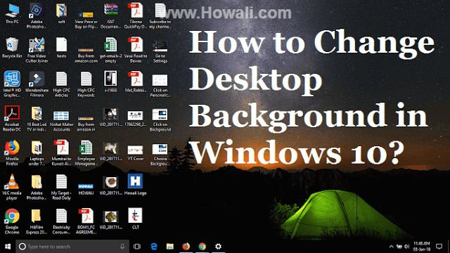 Most people didn't like the traditional blue color Windows 10 desktop background, that's why they looks for methods to change desktop backg...