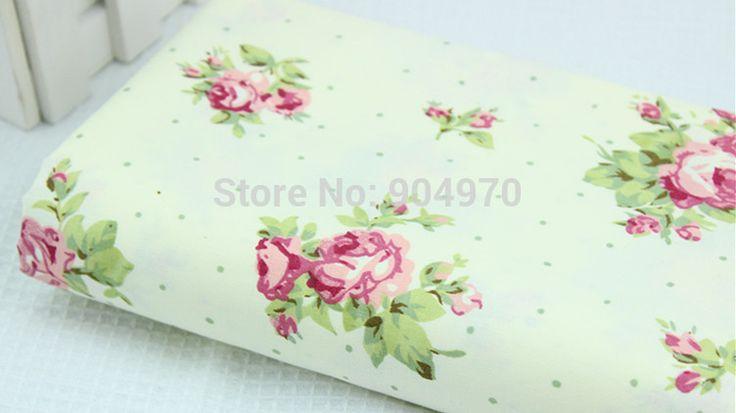 160x50 см Изысканная Роза 100% хлопок ткань Лоскутное романтический Зеленый Детские Ткани Лоскутное ткань Хорошего Качества МЕТР ДОМА текстиль