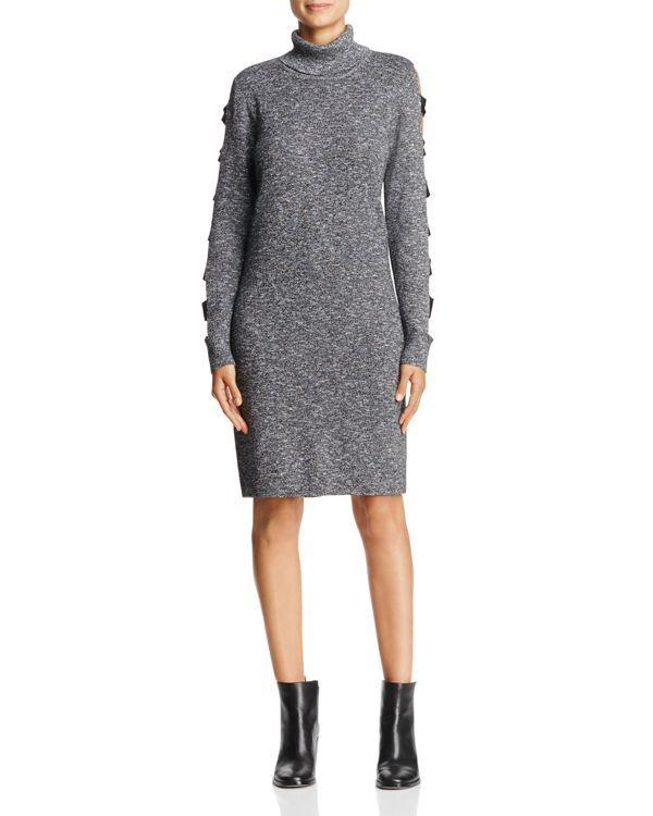 Love Scarlett Ladder Cutout Sleeve Sweater Dress