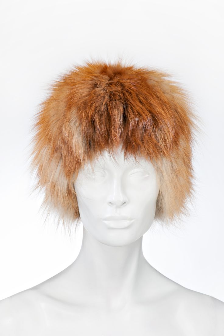 Fox hat, also available in black