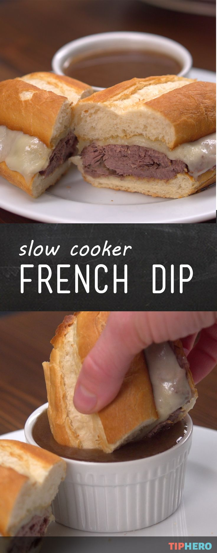 Slow cooker french dip | Recipe