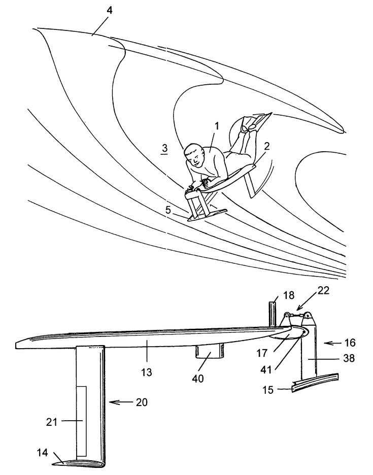 Patent Us7144285 Hydrofoil Surfing Board