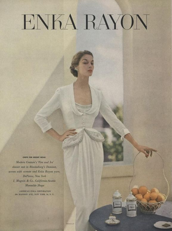 An advertisement from Vogue (November, 1952) From the Condé Nast archive.