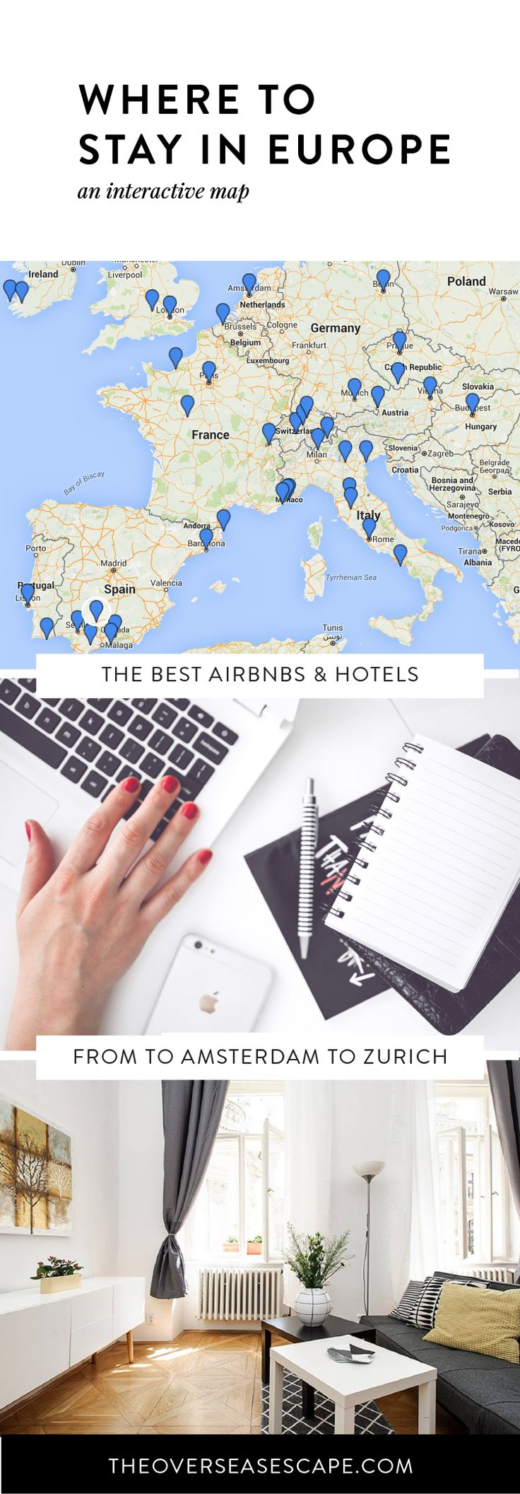 The best Airbnbs and hotels in Europe PLUS tons of fun Euro-trip ideas for honeymooners, friend groups, backpackers, families & more!                                                                                                                                                                                 More
