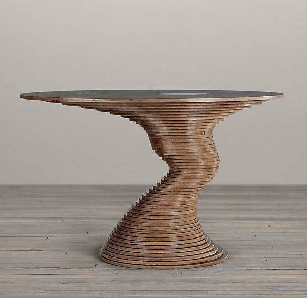Sculptural table made out from 50 plywood disks - Home Decorating Trends