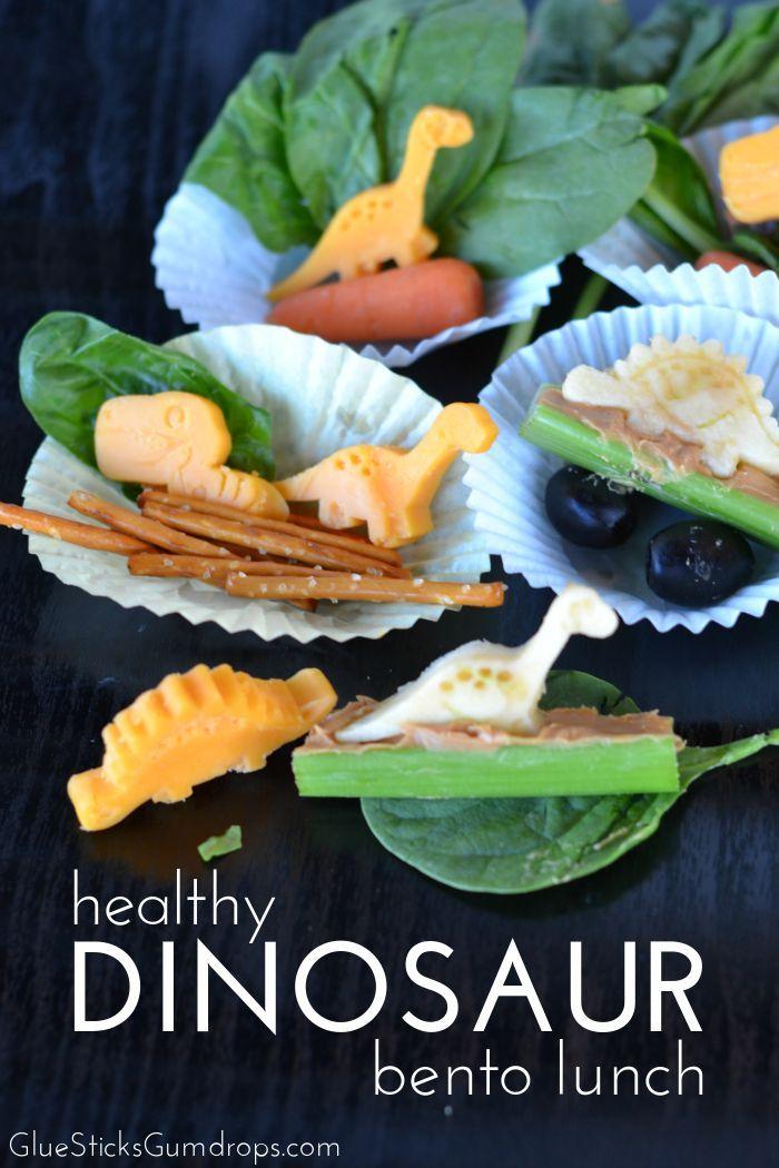 Dinosaur Bento Lunch Idea