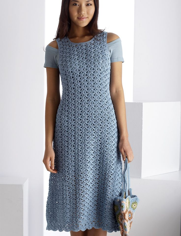Blue Reflection Dress - crochet pattern