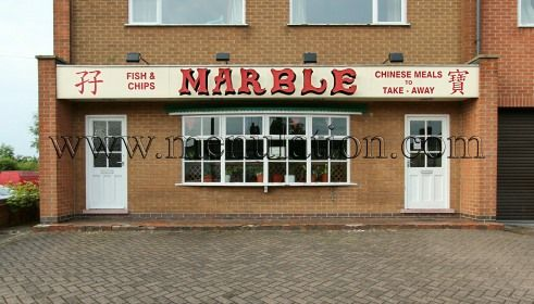 Marble Chinese Takeaway, Church Street, Cotmanhay (Ilkeston). Large choice of Chinese dishes available for collection or local delivery. Menu, phone number, location, comments and more. #Chinese #cuisine #takeaway #Ilkeston #food #Derbyshire #Menulation