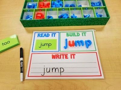 Read It, Build It, Write It - A Dolch Sight Words Center