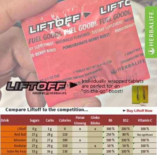 I love liftoff!! Ginseng, vitamin b, and more! Gives you a natural energy boost and improves mental clarity and alertness! 4 flavors! www.goherbalife.com/atownsend