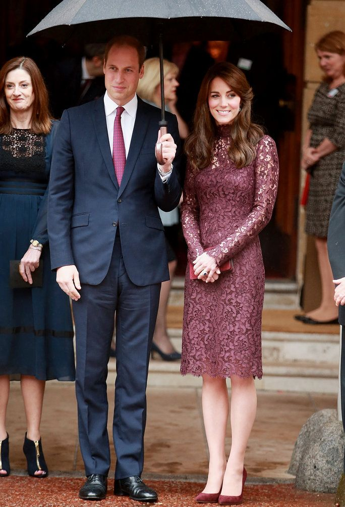 Prince William and Kate Middleton stepped out together, and the Duchess stunned in a lace Dolce & Gabbana frock.