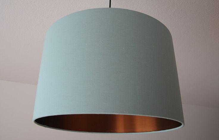 """Lampenschirme - Lampenschirm """"Mint-Kupfer"""" D 40cm - ein Designerstück von Schneider-Kreativ bei DaWanda"""