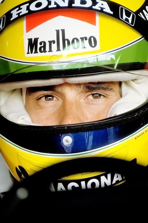 Ayrton Senna eyes