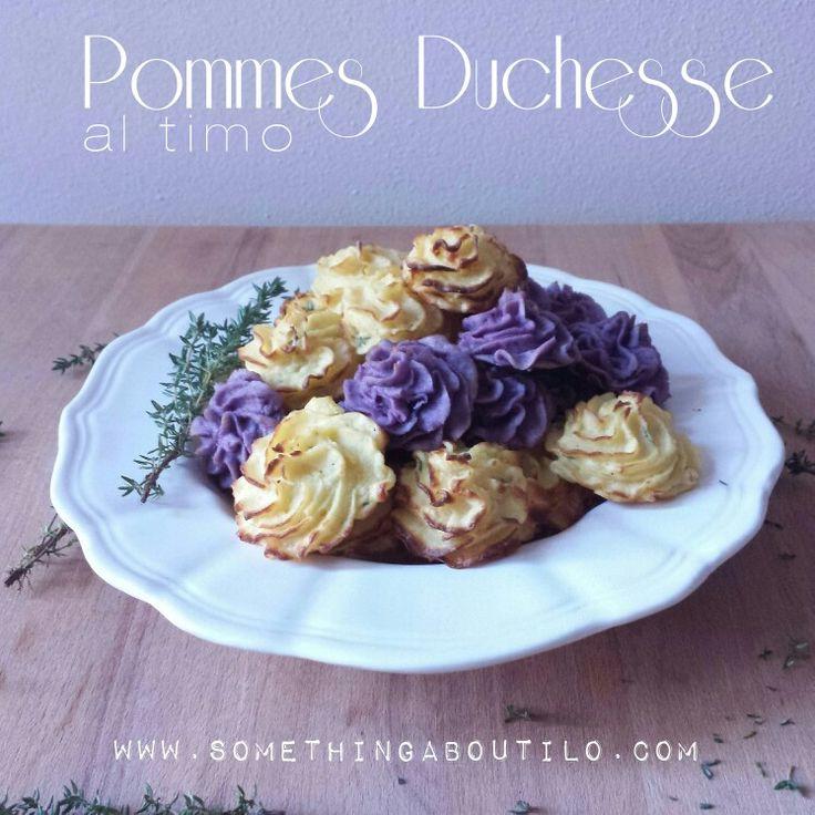 Pommes Duchesse al Timo  Belle, buone e profumate ❤ http://somethingaboutilo.com/2015/01/pommes-duchesse-al-timo/