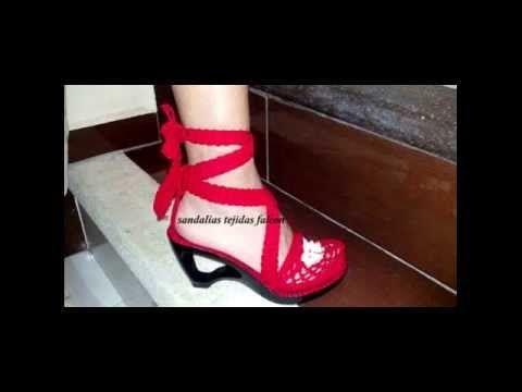 Zapatos crochet paso a paso - YouTube