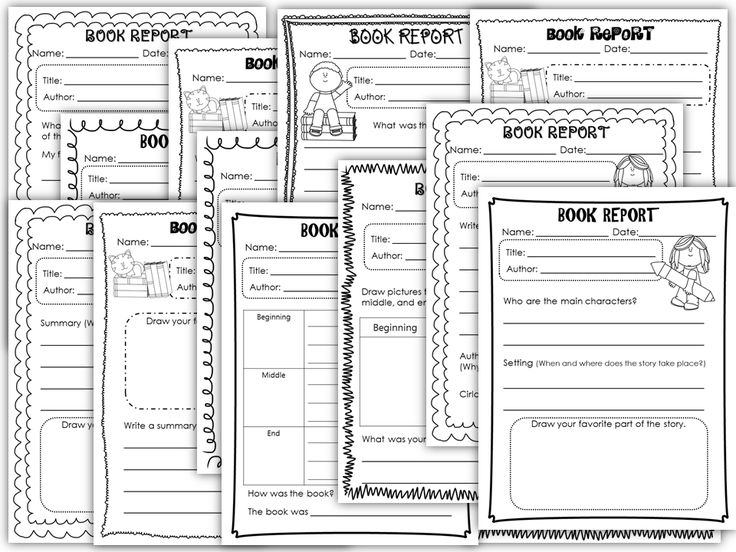 21 different book reports for kindergartners and first graders  Kids will definitely have fun using these easy to follow book reports! :D