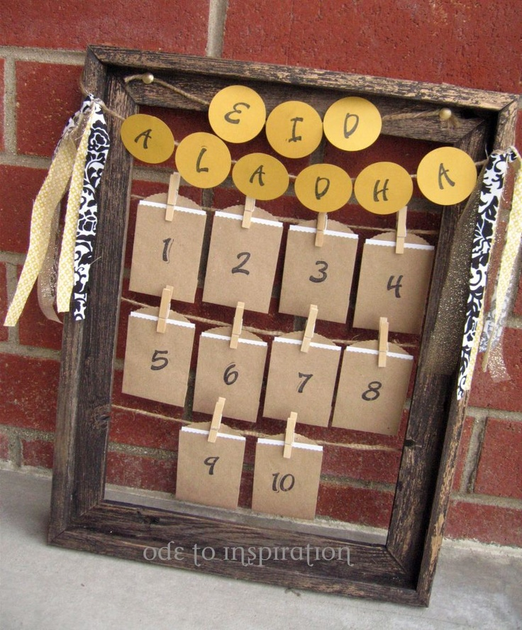 Eid Advent Calendar...each card can tell about what happens that day during Hajj, ask a question about Hajj, or be an activity