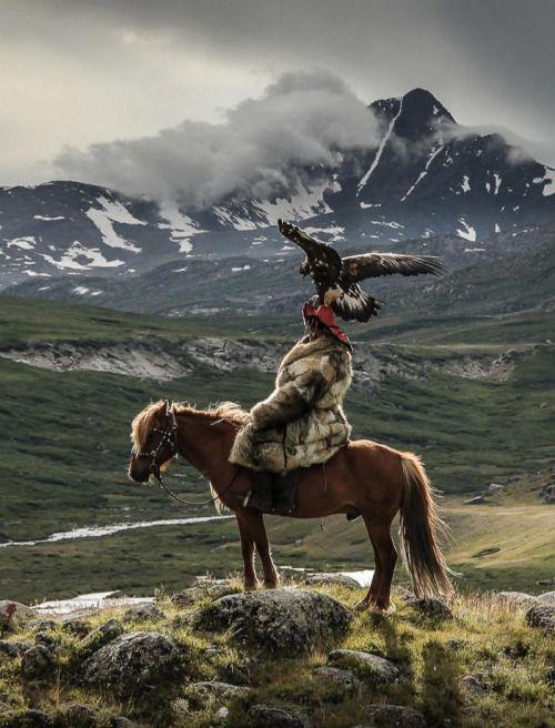 Kazakh Eagle Hunter, Mongolia - by Lisa Vaz