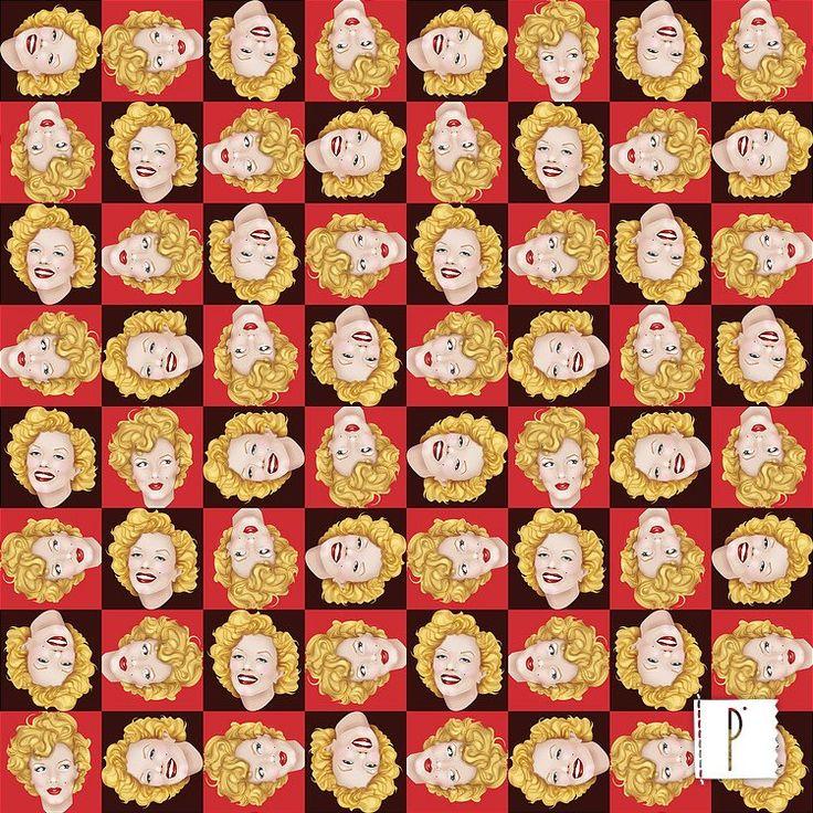 A estampa da Marilyn Monroe, de autoria de Zeka Andrade, está disponível em diversos tecidos de algodão e poliéster. Acesse: www.panolatras.com.br