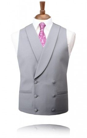 Traditional Dove Grey Double Breasted Morning Suit Waistcoat. Double breasted is just one option for the morning suit.
